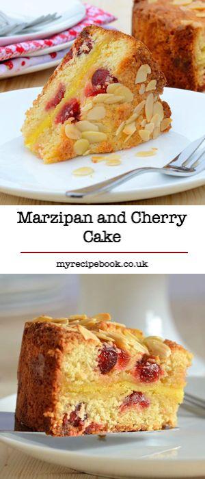 Marzipan and Cherry Cake