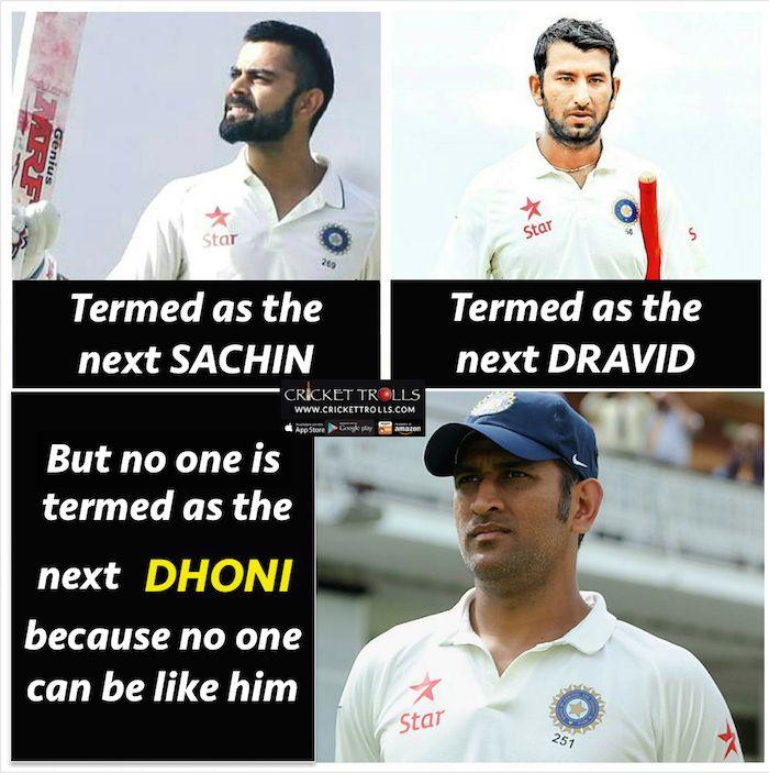 True Story :) MS Dhoni Virat Kohli & Cheteshwar Pujara For more cricket fun click: http://ift.tt/2gY9BIZ - http://ift.tt/1ZZ3e4d