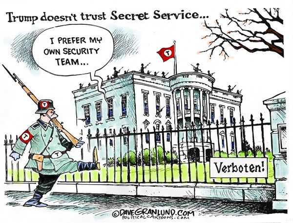 Trump Security | By Dave Granlund