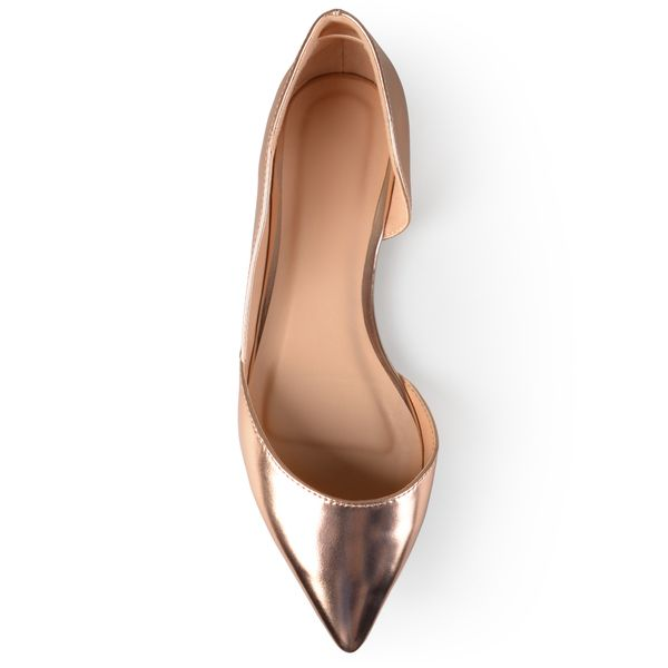 Rose gold flats? Journee Collection Women's 'Cortni' Pointed Toe Cut-out Flats