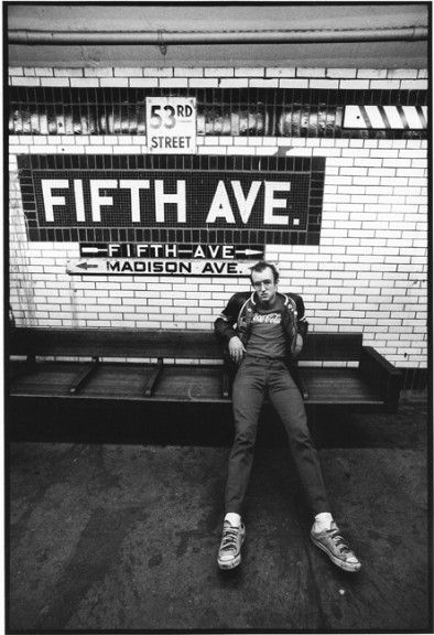 Keith Haring (5th Avenue Subway), c. 1984 by Tseng Kwong Chi