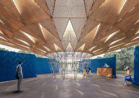 Serpentine Pavilion 2017, Designed by Francis Kéré, Design Render, Interior. Image © Kéré Architecture