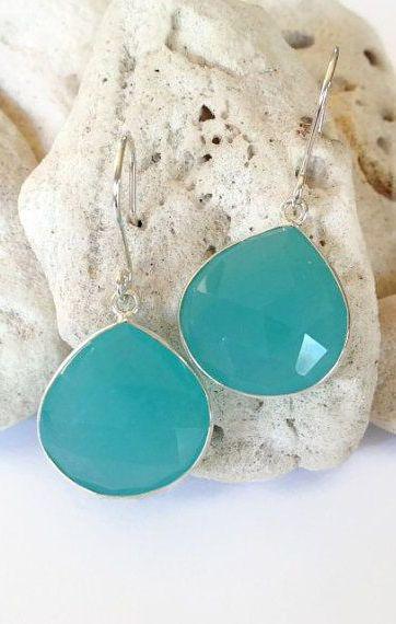 Aqua Earrings Hawaii Jewelry