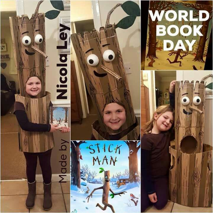 Stick man costume