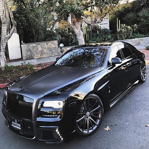 Checkout this badass All black Rolls Royce Ghost WALD Black Bison II. Would you drive this car? Spotted @mrgoodlife.co @platinum group #motors #manstrav Tag us for a chance to be featured! @manstrav.official #luxurious #firstclass #millions #billions #mil