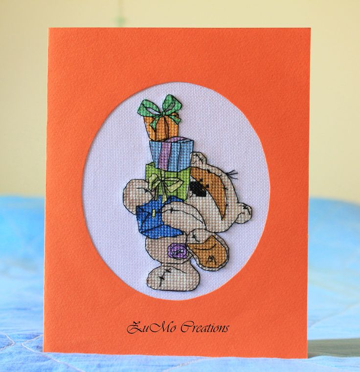 Fizzy Moon | cross stitch card