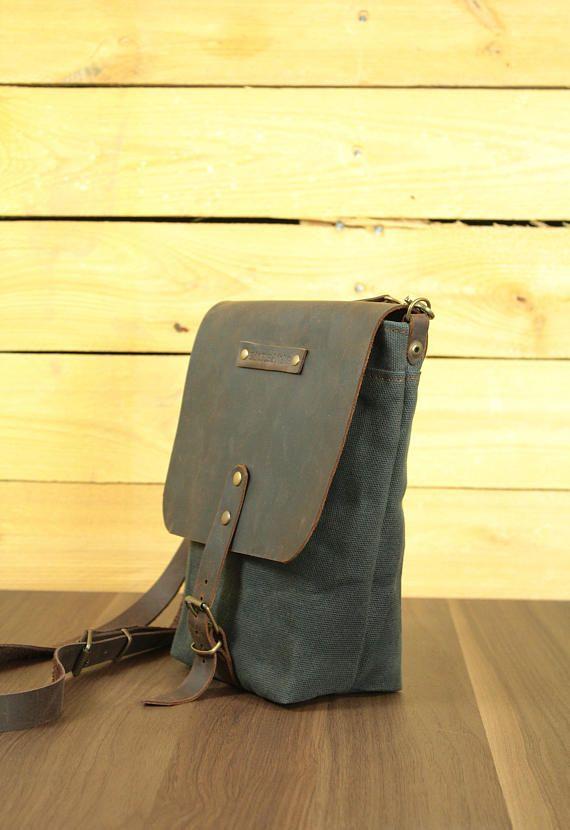 Bagwaxed Bag Waxed Messenger Canvasshoulder Shoulder Canvas v6Tq4WP