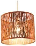 Donez Laser Cut Pendant Lampshade Copper. Laser cut detailed metal cylinder pendant lampshade. Light is thrown from this shade and add an extra dimension to your room.