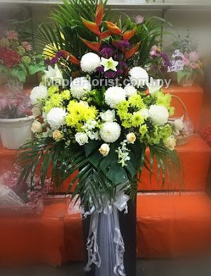 Send your condolences with funeral flowers online to Sandakan, florist Sabah, sympathy flowers are the perfect choice to convey your heartfelt sentiment. Delivery coverage: within Malaysia