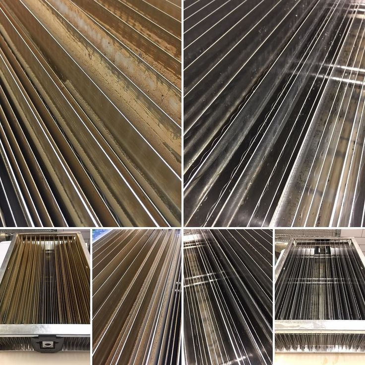 Before and after cleaning the trapping fields of the high voltage electrostatic filter. - Again cleaning can be therapeutic...and visually pleasing. -  #coffeetech #avirnaki #coffeeroasting #electrostatic