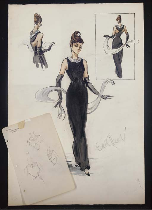 """Your dresses should be tight enough to show you're a woman and loose enough to show you're a lady.""  - Edith Head (and other cult gowns sketches)"