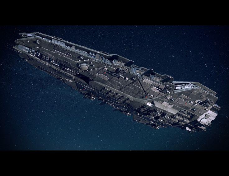 ArtStation – Space Battleship, Misuo WU