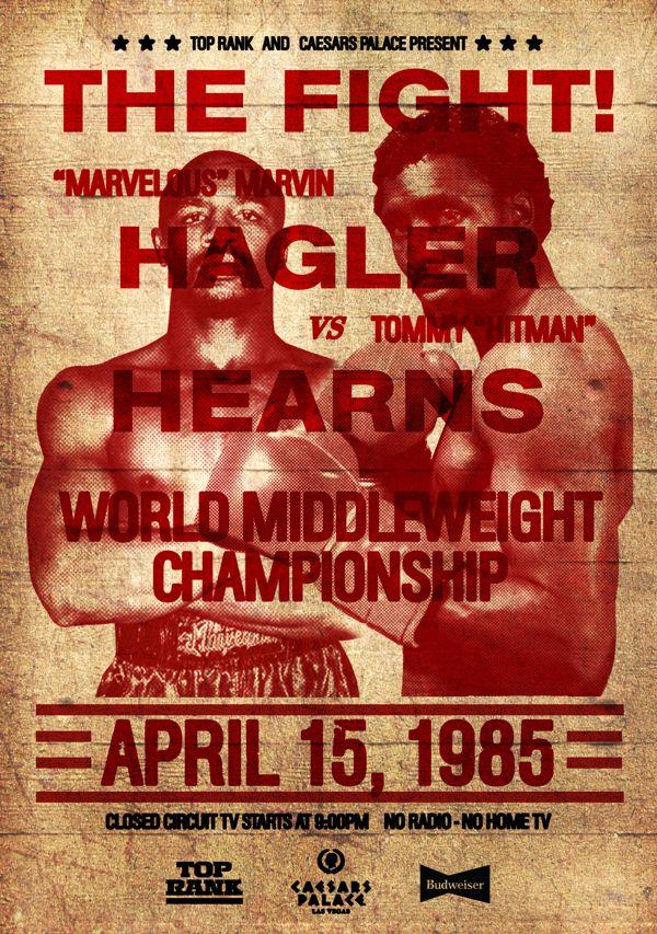 Vintage Boxing Posters by Jason Jokhai, via Behance