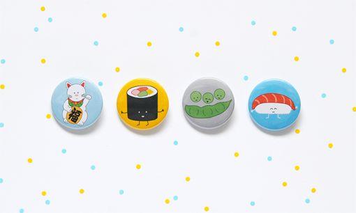 Sushi Button Set