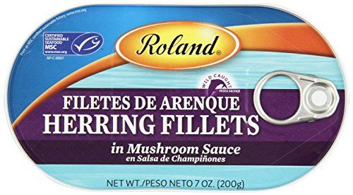 Roland Herring Fillets, Mushroom Sauce, 7 Ounce (Pack of 6) >>> Details can be found by clicking at the image at Quick dinner ideas board