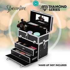 Streamline Make Up Case Jewellery Box Portable Travel Cosmetic Beauty Carry Case