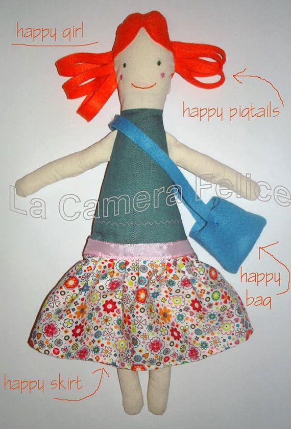 #happy #girl #plustoy, #softy #doll, #little girl