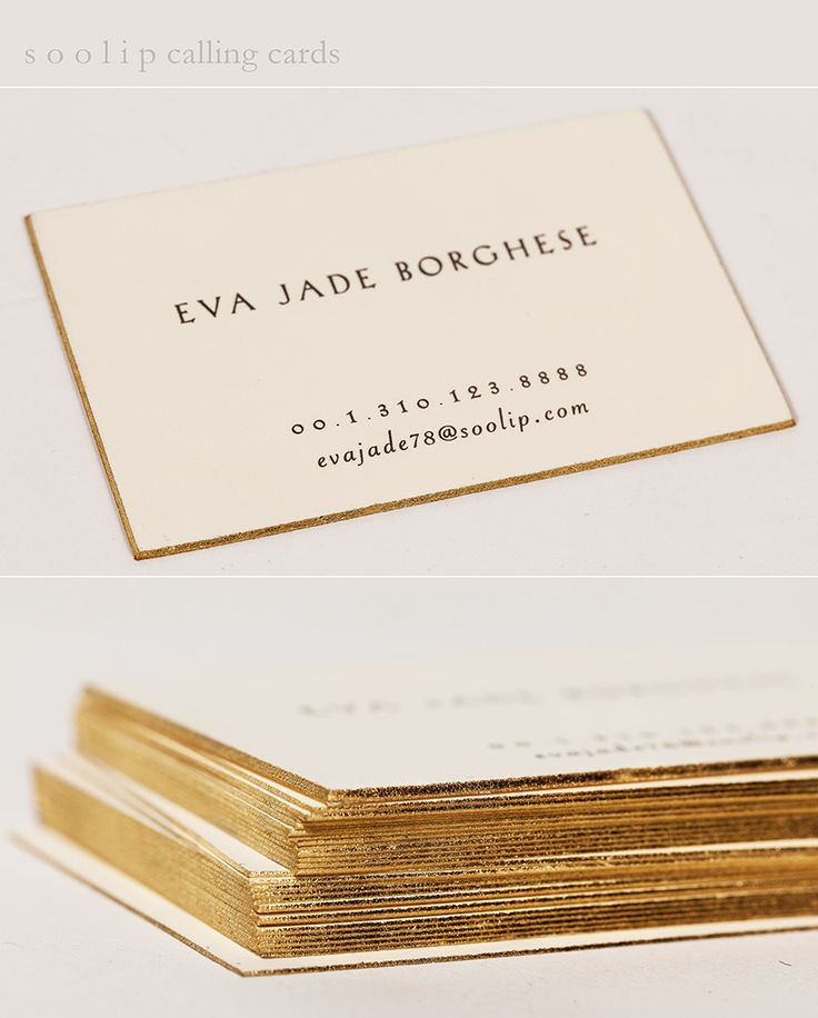Good As Gold | #Soolip Letterpress Calling Cards