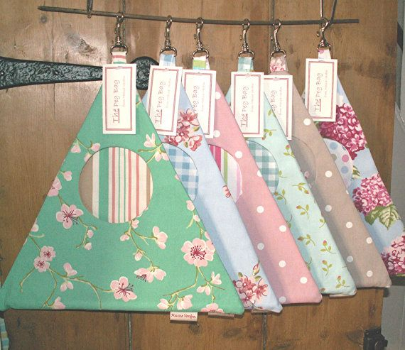 Peg Bag / Clothespin Bag Won't Fall Off the Line by maisiev, £11.75