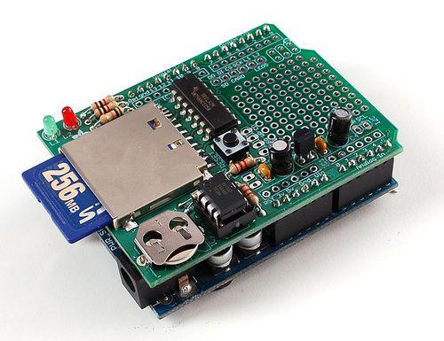 Data logger shield Picture of Logger Shield: Datalogging for Arduino