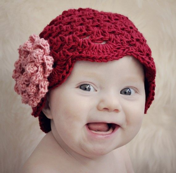 Crochet Rose Pattern No Sew : Be My Valentine Cluster Stitch Hat with NO-SEW Rose ...