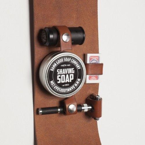 Damn Good Soap Company Leather Shaving Set Safety Razor - Beardshop