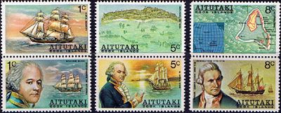 Aitutaki William Bligh's Discovery of Aitutaki Set Fine Mint SG 114/9 Scott 96/101a Other South Pacific and British Commonwealth Stamps HERE!