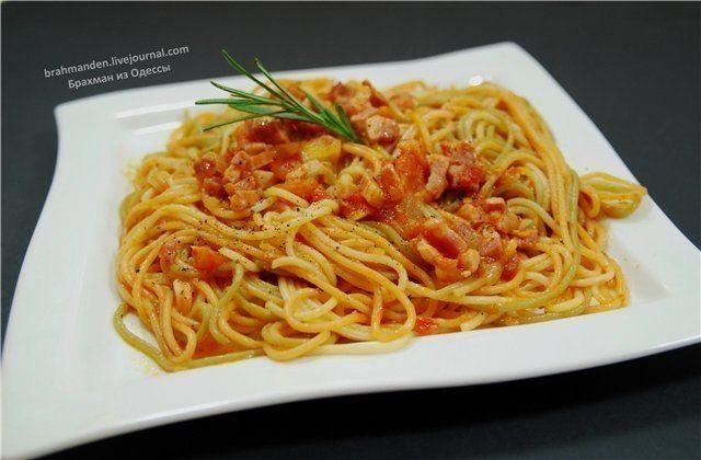 Фото к рецепту: Паста Аматричиана