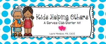 Are you looking for a way to help students feel empathy and empowerment? To turn them into active problem-solvers? How about starting a service learning club in your school? Service learning is the ultimate win-win situation---someone is helped or a problem is solved (by kids!), and those kids learn that they can make a real difference in the world.As the school counselor, I use service clubs to target the quiet, under-the-radar kids who seemed to lack strong connections to a social network.