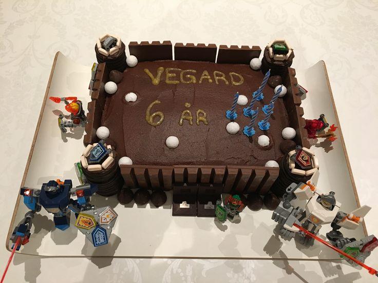 Nexo Knights casle chocolate cake (for friends birthday celebration)