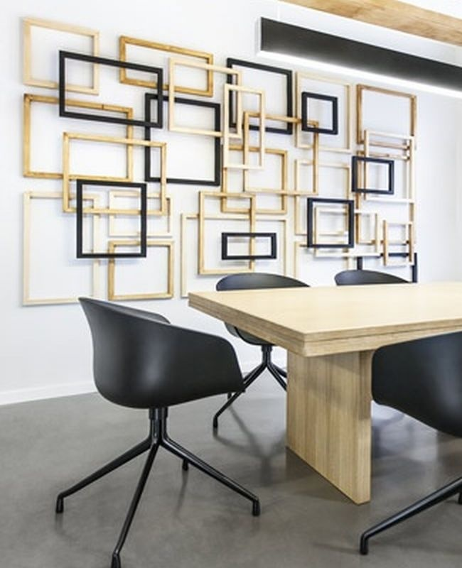 layered empty frame wall installation love this