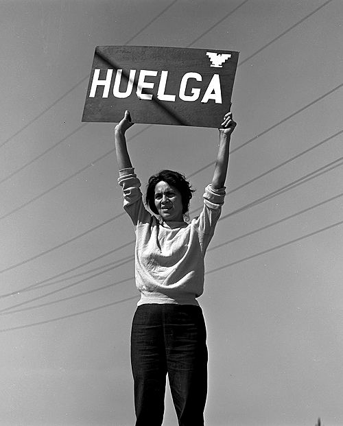 """April 10, 1930: Dolores Huerta is born. Dolores Huerta was born in Dawson, New Mexico.Huerta, inspired by her upbringing and her experience working as a teacher among impoverished students, became a community organizer and set out to """"correct economic injustice"""". She and Cesar Chavez founded a union called the National Farm Workers Association that would later merge with the Agricultural Workers Organizing Committee to become the United Farm Workers of America, ."""