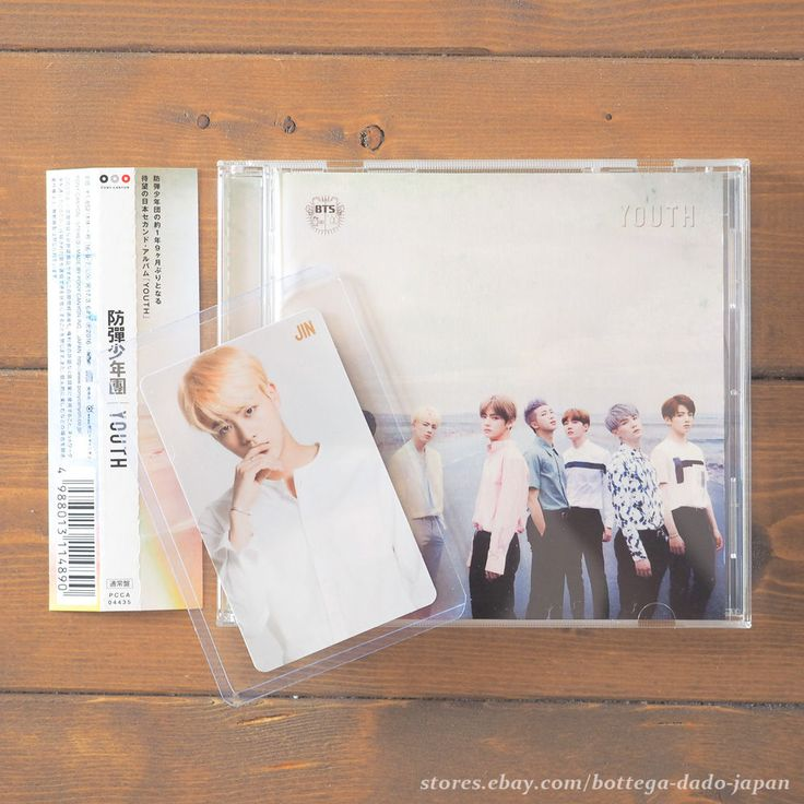 BTS YOUTH / JIN official photo card + CD Japan ver. K-POP bangtan boys