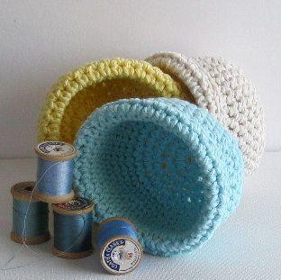 Easter Basket . 3 . crochet . handmade . Easter by NykkiMakes