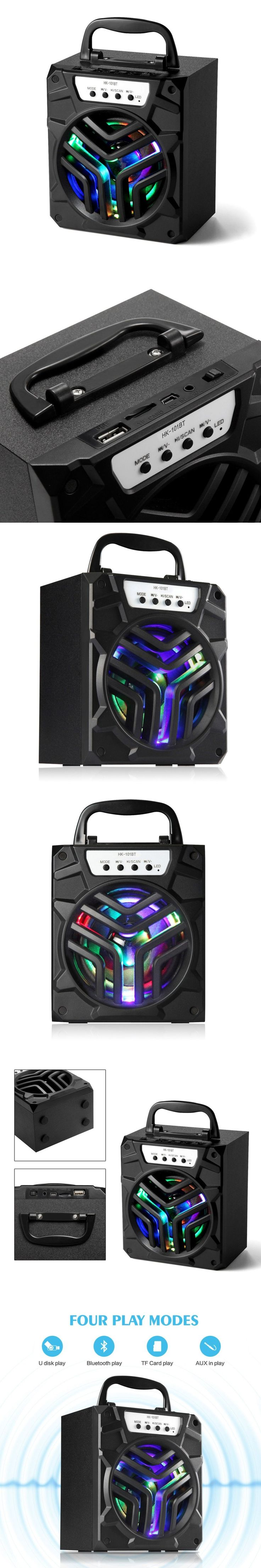 Outdoor Audio PC Speaker Portable With 64GB Wireless Bluetooth SpeakerSupport Bluetooth/USB/TF CARD/AUX Play Mode LED Indicating