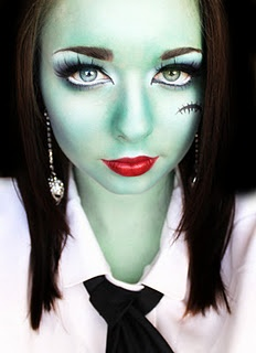 """Frankie Stein"" Monster High look! I love it! Halloween costume done for next year :)"