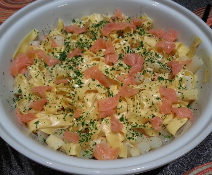 pasta met asperges en gerookte zalm - Thermomix