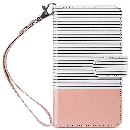 iPhone 7 Case Wallet Type Modern Fashion Cover For Girls PU Leather Magnetic NEW #ULAK