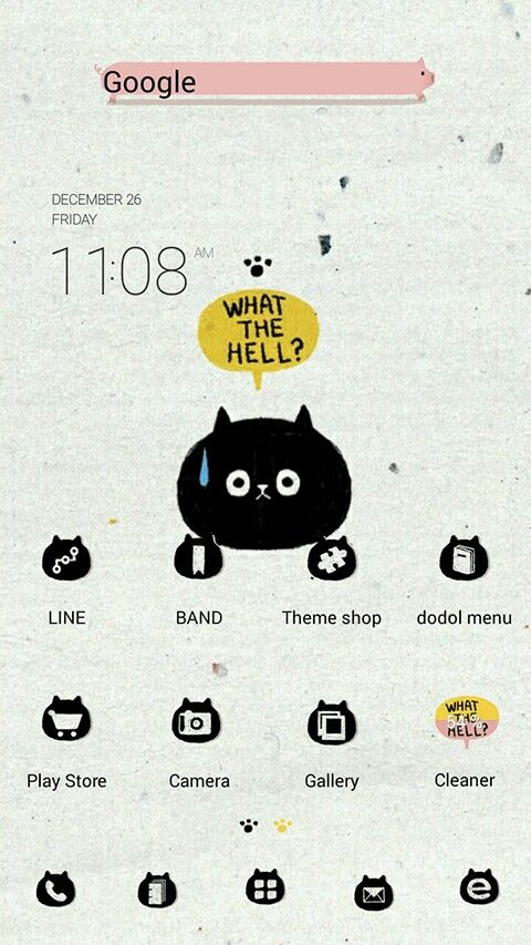 Cute! Android theme on Line Launcher.