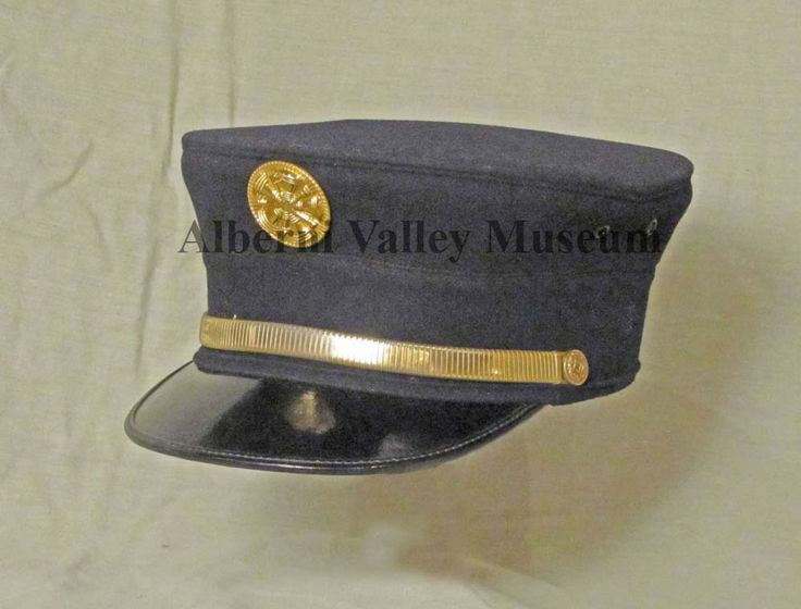 Fire chief's cap that belonged to William Venables.  Mr. Venables (1900-1969) was chief of the Port Alberni Volunteer Fire Department during the years 1937-1965.  He was the first fire chief to have a uniform.  [Alberni Valley Museum Collection 1972.34.1a]