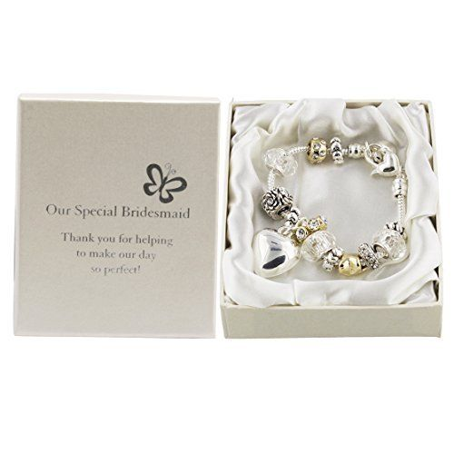 Amore Silver/Gold Bead Charm Bracelet - Bridesmaid  Price : £12.99 http://www.bronzebarngallery.com/Amore-Silver-Gold-Charm-Bracelet/dp/B004LP3T0S