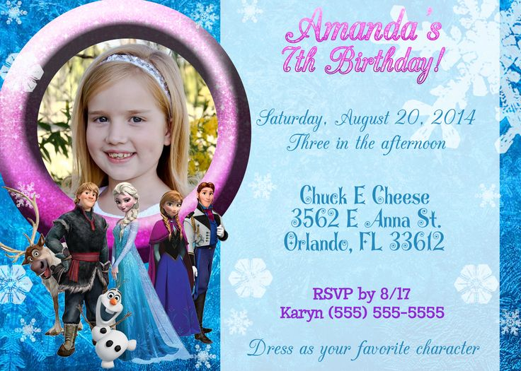 The 31 best Invitations images on Pinterest | Birthday invitation ...