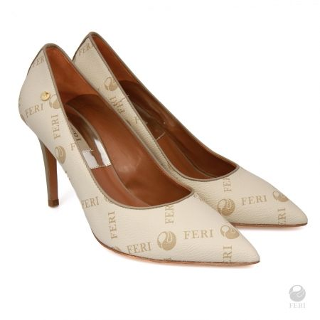 Global Wealth Trade Corporation - FERI - Pippa Shoes Beige Monogram