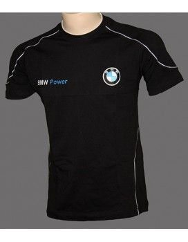 BMW Black T-Shirt with embroidered logos for  €10.99 from http://autofanstore.com