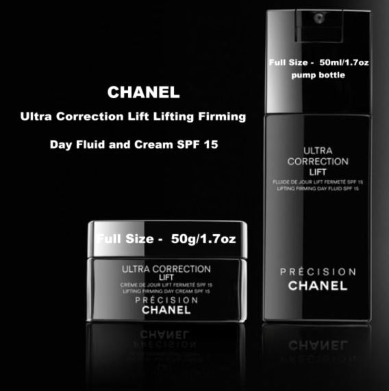 CHANEL Precision Ultra Correction Day Cream and Day Fluid pump bottle SPF 15  #CHANEL