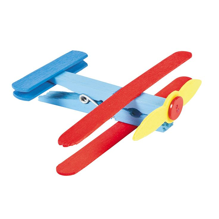 Clothespin Airplane Craft Kit - OrientalTrading.com