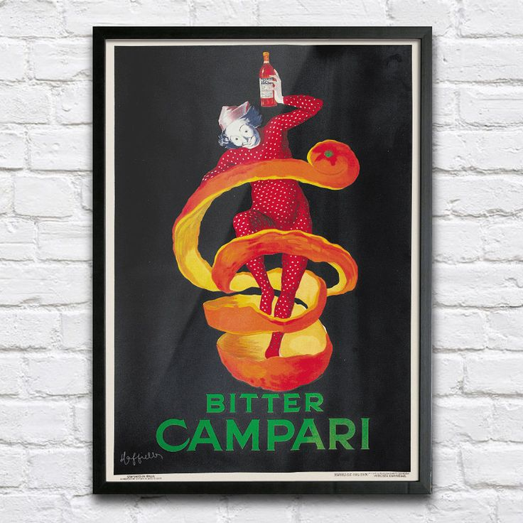 Bitter Campari Vintage Poster - Digital HQ Print - 4 Sizes by PlakaticoPosters on Etsy