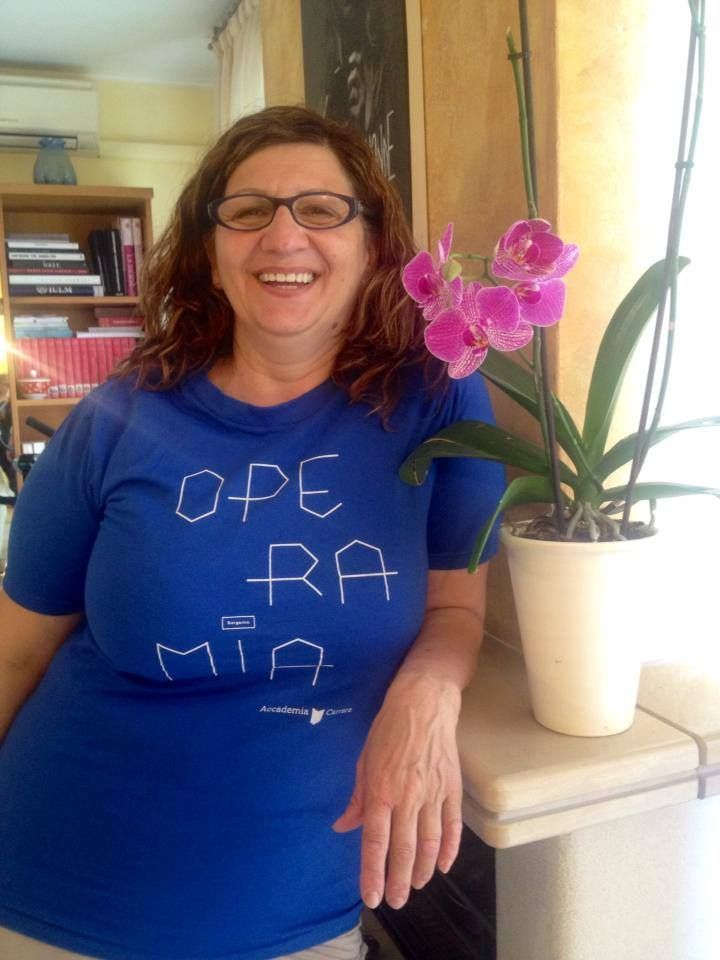 Patrizia, contributor with #operamia t-shirt crowdfunding projoct 2014