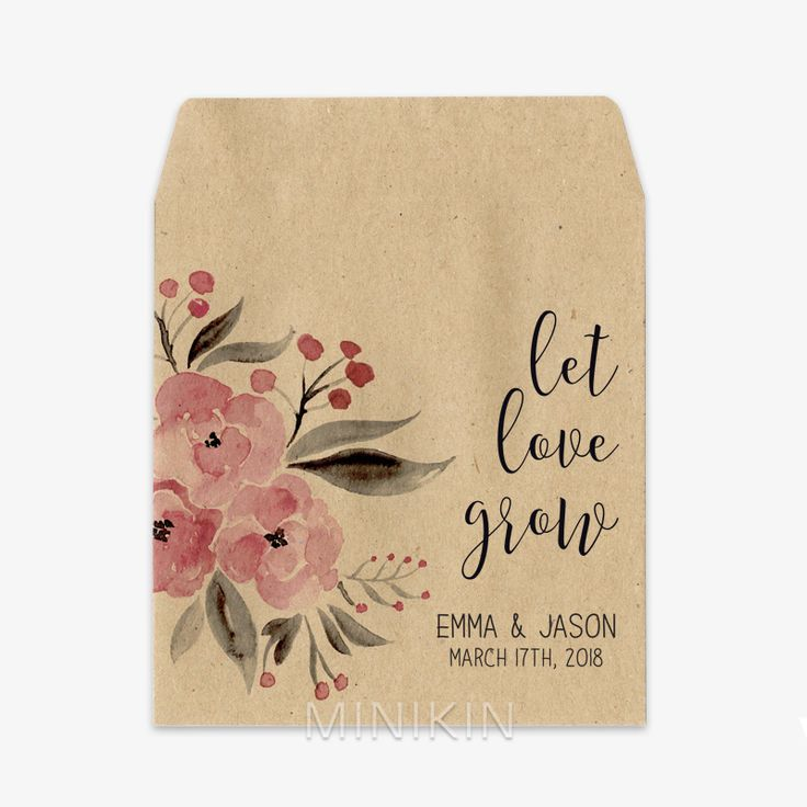 Wedding Seed Packets Colored Watercolor Floral design - Wedding seed packets with Colored watercolor wreath design.Wedding Seed Packets Colored Watercolor Floral Wreath W-A268 - Wedding seed packets with Colored watercolor wreath design.Wedding Seed Packe