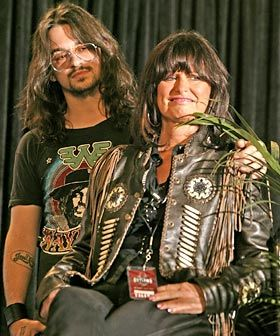 Jessi Colter and her son Shooter Jennings